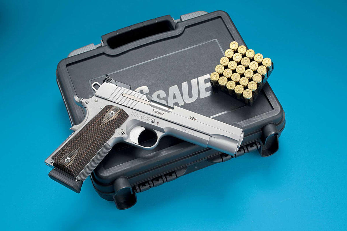 SIG Sauer 1911 Stainless Target pistol