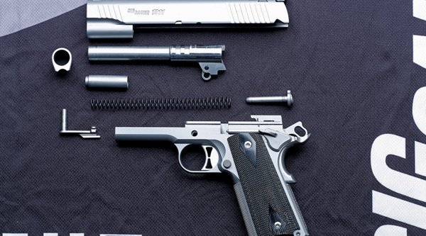 SIG Sauer 1911 Traditional Match Elite disassembled