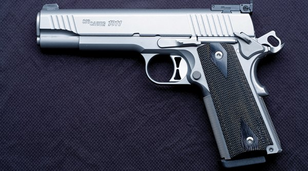 Left-side view of the SIG Sauer 1911 Traditional Match Elite.