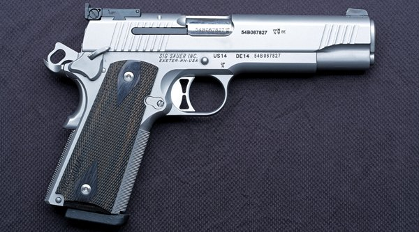 Right-side view of the SIG Sauer 1911 Traditional Match Elite.