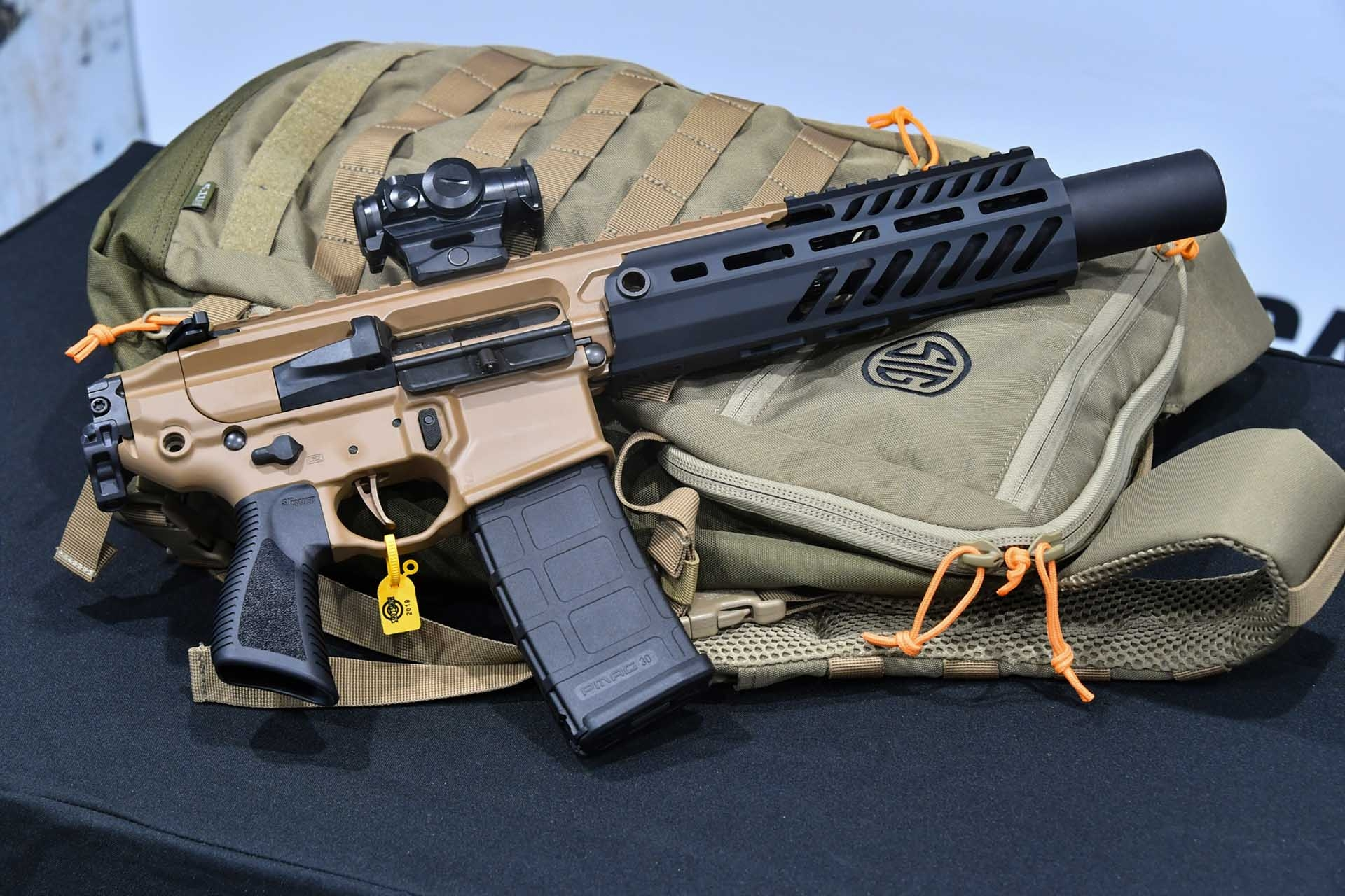 SIG Sauer MCX Canebrake in .300BK with the SIGSRD762 suppressor mounted at the SIG Premier Media Day event.