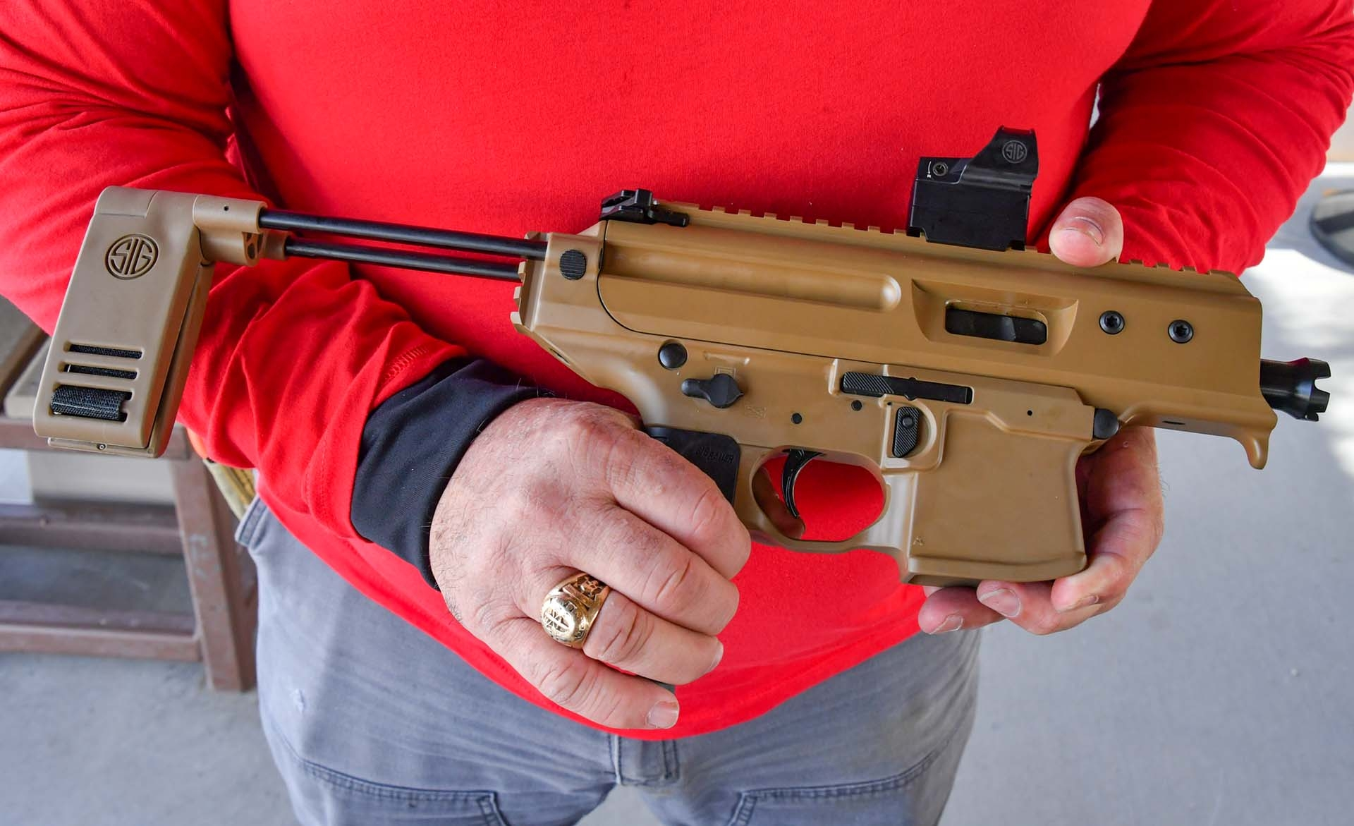 The SIG Sauer MPX Copperhead 9mm pistol