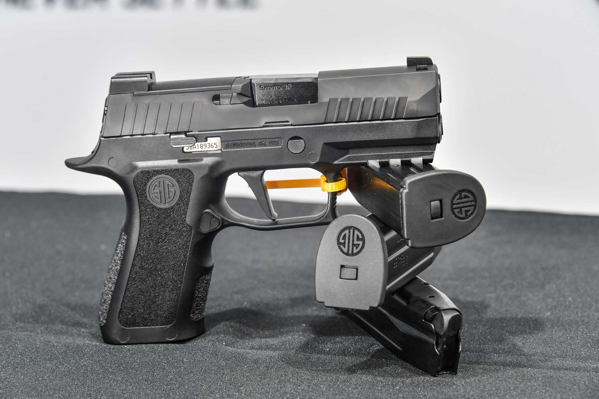 The SIG Sauer P320 X-Compact, left side