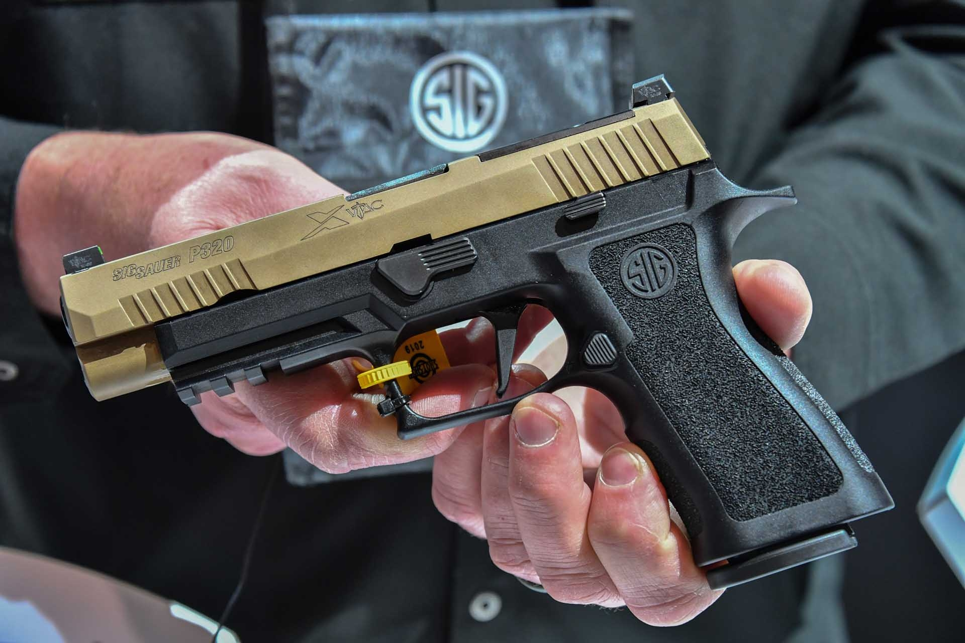 The SIG Sauer P320 X-VTAC with its optics-ready
