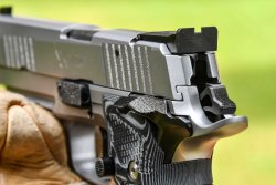 Rear sight of the SIG Sauer P226 X-Five Performance