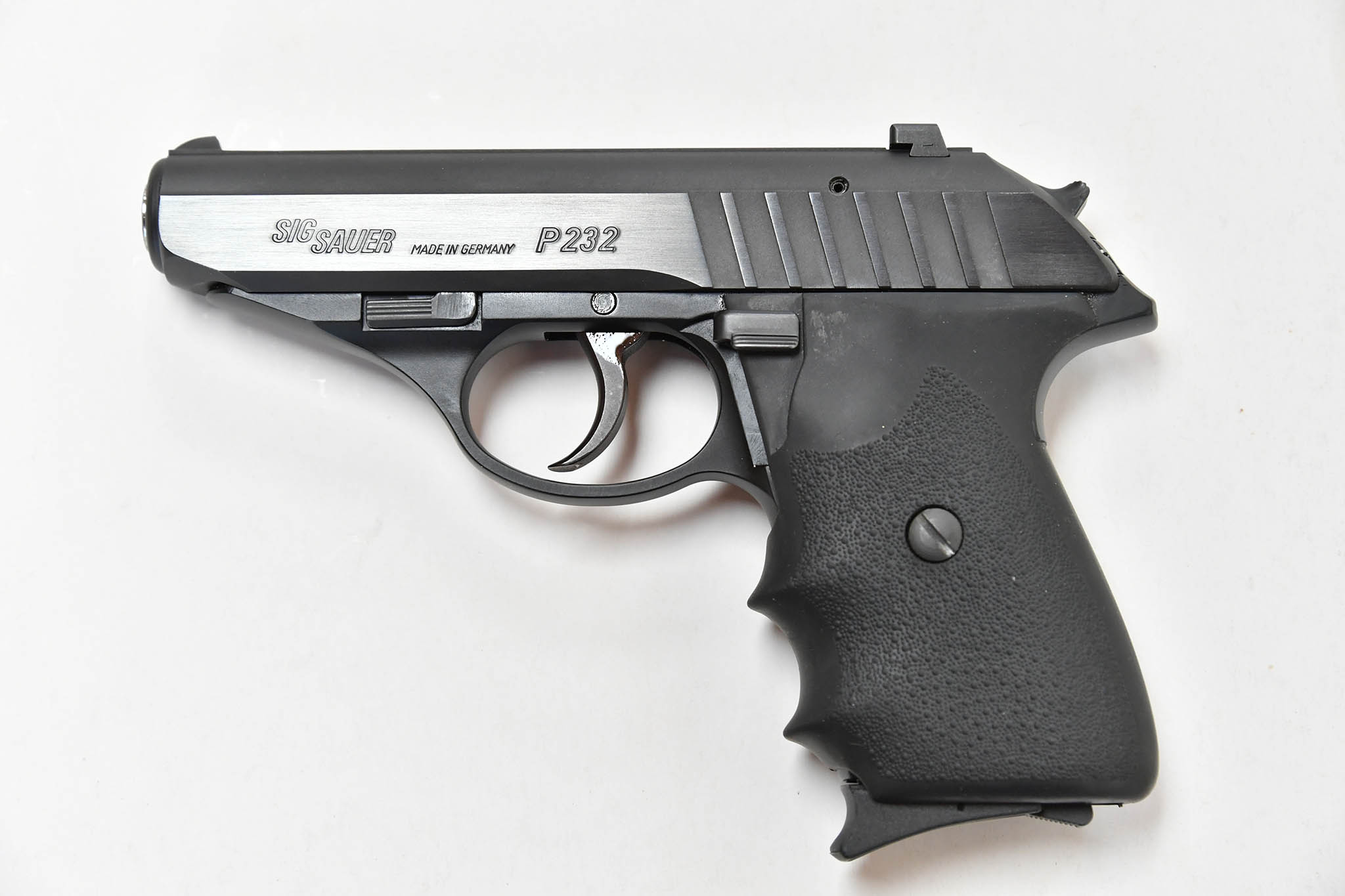 Left side of the SIG Sauer P232 Black .380 Auto pistol.