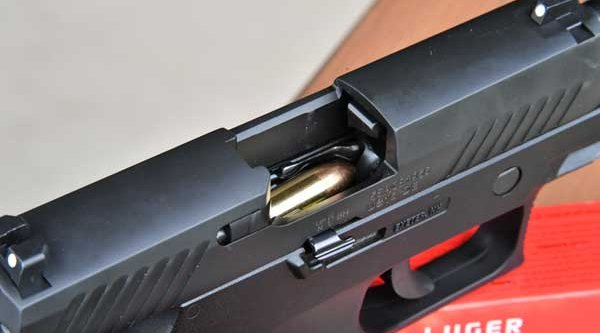 Rounds in the magazine of the P320 by SIG Sauer