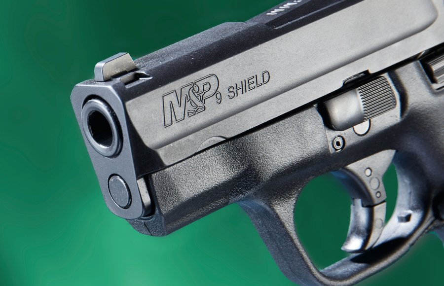 Front view of the Smith & Wesson M & P Shield.