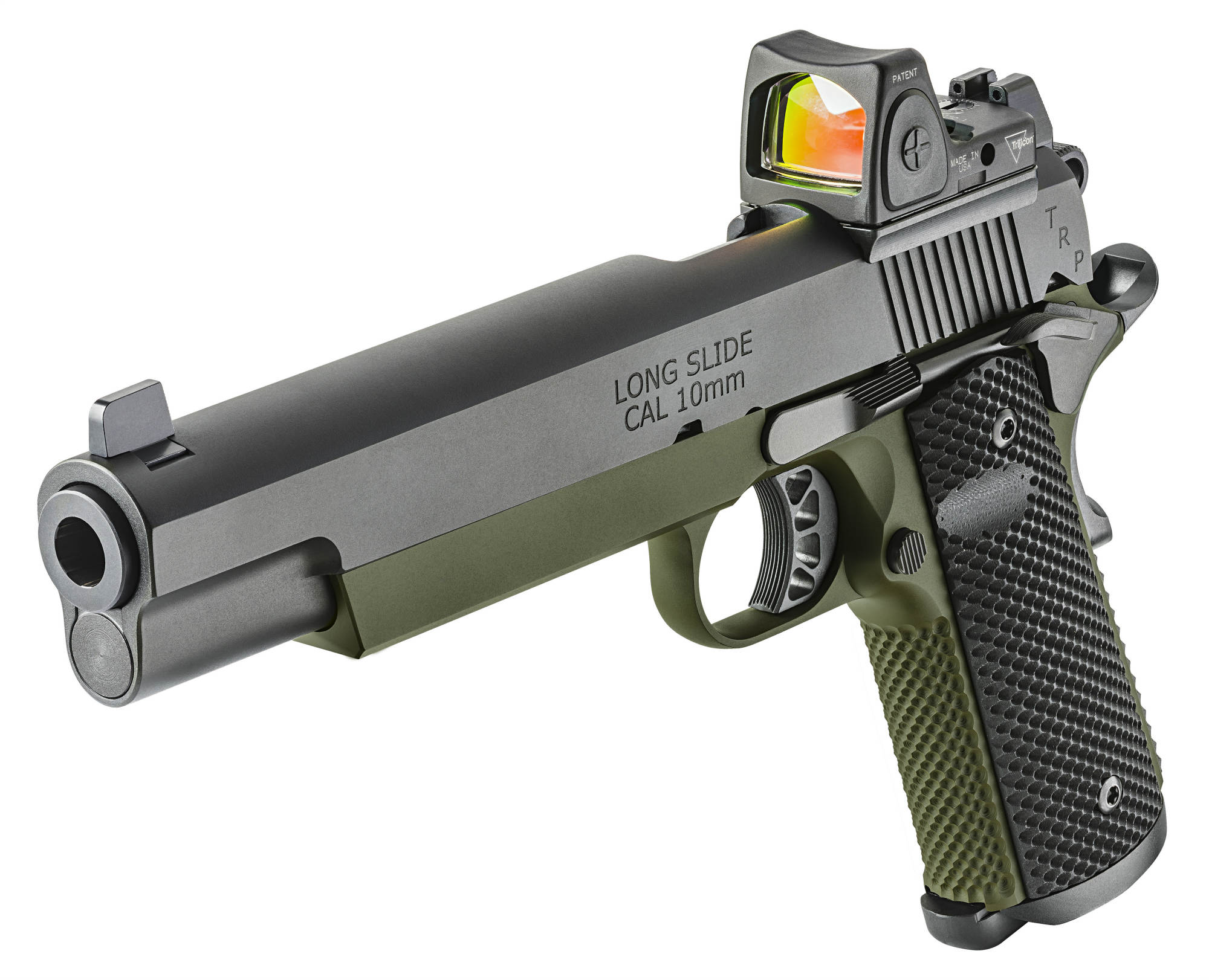Long slide version of the Springfield Armory 1911 TRP 10mm RMR