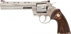 New Colt Python in stainless steel left side view