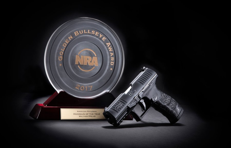 WALTHER PPQ45 pistol and award