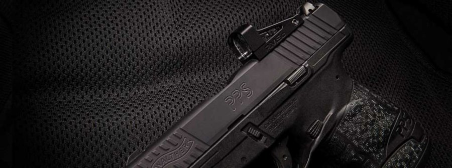 The new Walther PPS M2 RMSc pistol with red dot sight.
