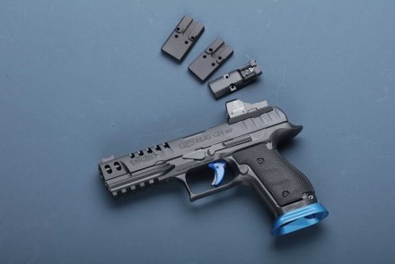 Walther Q5 Match with compact red dot sights (MRDS).