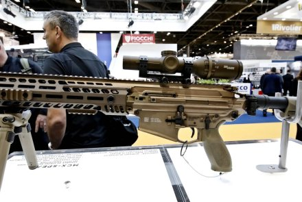 SIG Sauer MCX Spear assault rifle at the MILIPOL 2019