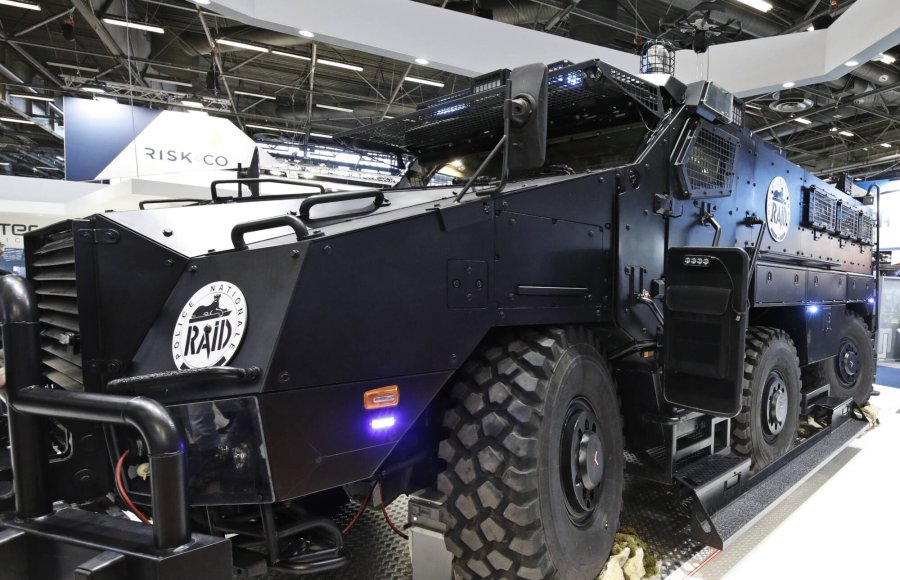 Military vehicle at the MILIPOL 2019