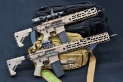SIG Sauer MCX Virtus rifles with different barrel lenghts