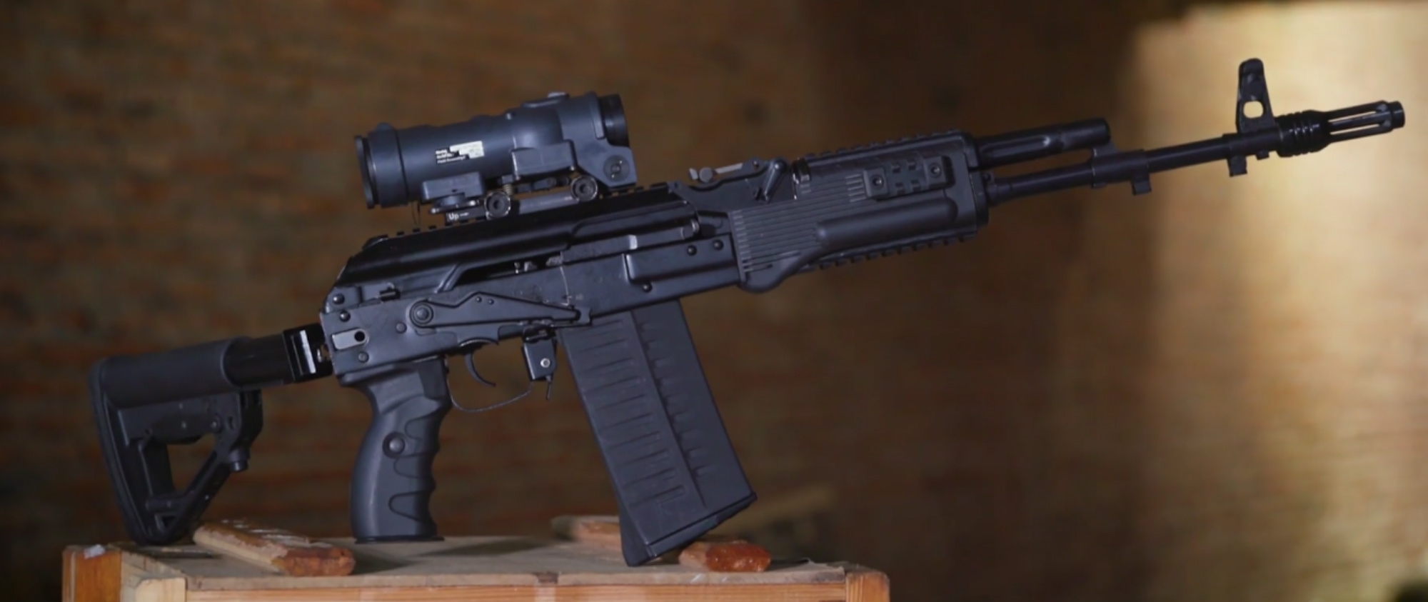 The prototype AK-308 chambered in 7.62x51mm.