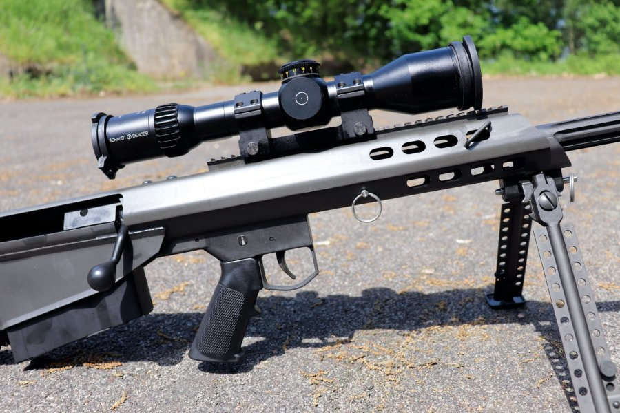 Barrett M95 bolt-action bullpup rifle in caliber .50 BMG from the right