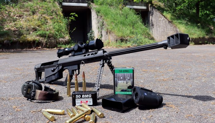 barrett-firearms:      Barrett M95 bolt-action bullpup rifle in .50 BMG: with the Big Fifty on the shooting range