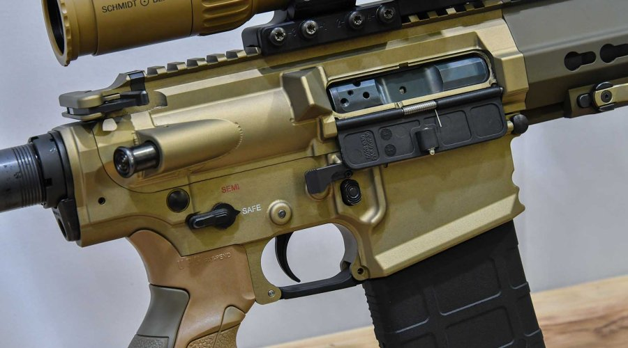Lower and upper receiver of the new CR 308 rifle from Haenel