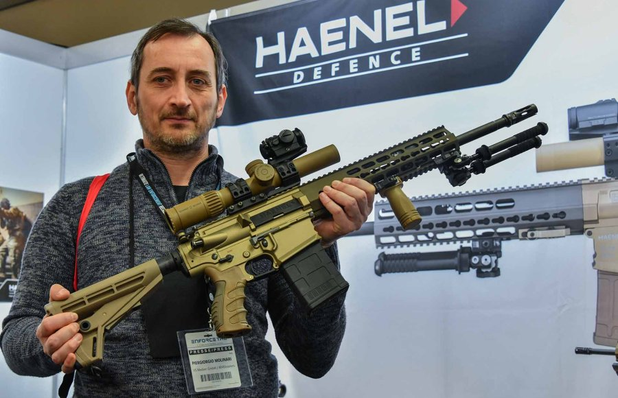 Haenel introduced the semi-automatic rifle CR 308 at the ENFORCE TAC.