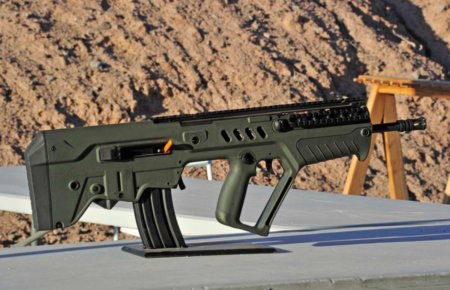 IWI US, Inc. introduces the Tavor SAR semi-automatic rifle in .300 BLK caliber at the 2016 SHOT Show