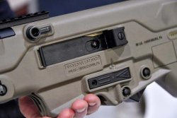 The magazine release of the Tavor SAR from IWI USA