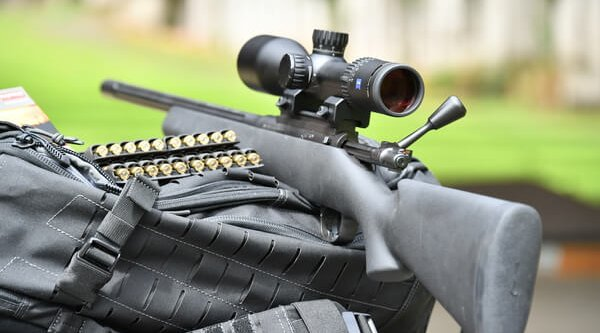 Kimber 84M LPT bolt action rifle with ZEISS Conquest V6 2-12×50 rifle scope