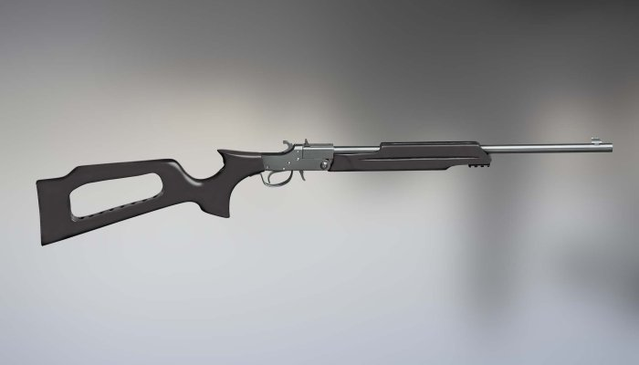 pedersoli-davide: Davide Pedersoli unveils the Black Widow single shot break-action rifle in .22 LR