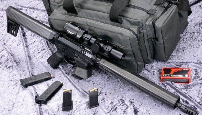 rifles: A professional tool for sportsmen: testing the 9mm Quarter Circle 10 Euro-Racer pistol caliber carbine