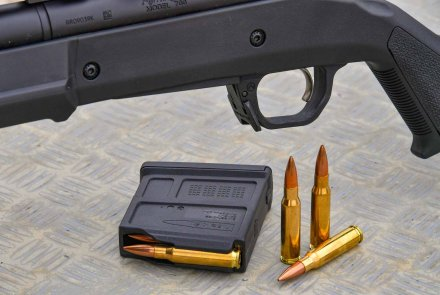 The magazine of the Remington 700 Magpul HB