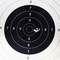 The grouping with Remington ammunition.