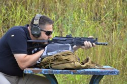 SAIGA-9 PDW: test with the supported gun
