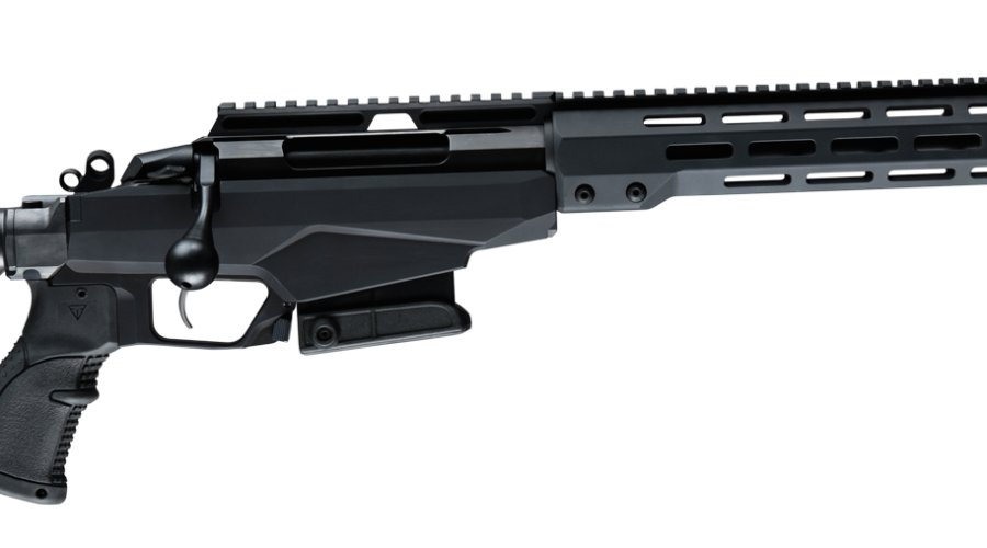 Side view of the Tikka T3x TAC A1 20'' barrel.