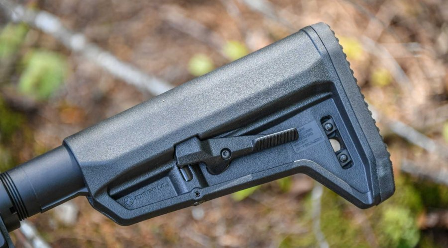 The stock of the SIG Sauer M400 TREAD rifle