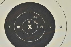 SIG Sauer M400 TREAD target at 100 yards (91,4m)