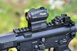 SIG Sauer M400 TREAD rifle with 2 MOA Red Dot optic mounted