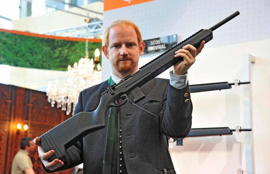Steyr-Mannlicher GmbH introduced the Zephyr II and Scout Survival RFR rimfire carbines at the 2016 IWA OutdoorClassics