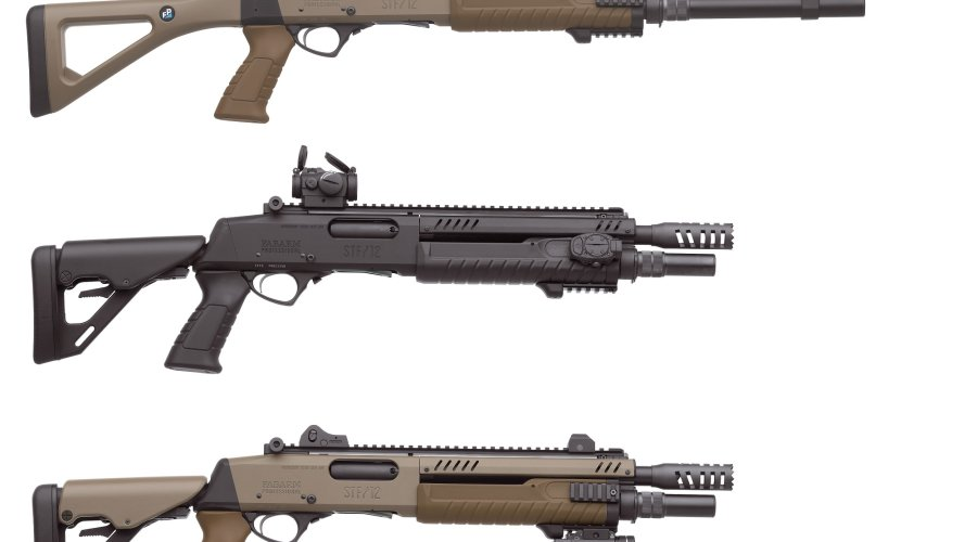 "Fabarm of Italy offers the STF/12 line of 12-gauge, 3"" pump-action tactical shotguns"