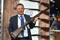 Presentation of the new FAIR Carrera One over-and-under shotgun at the SHOT Show 2018.