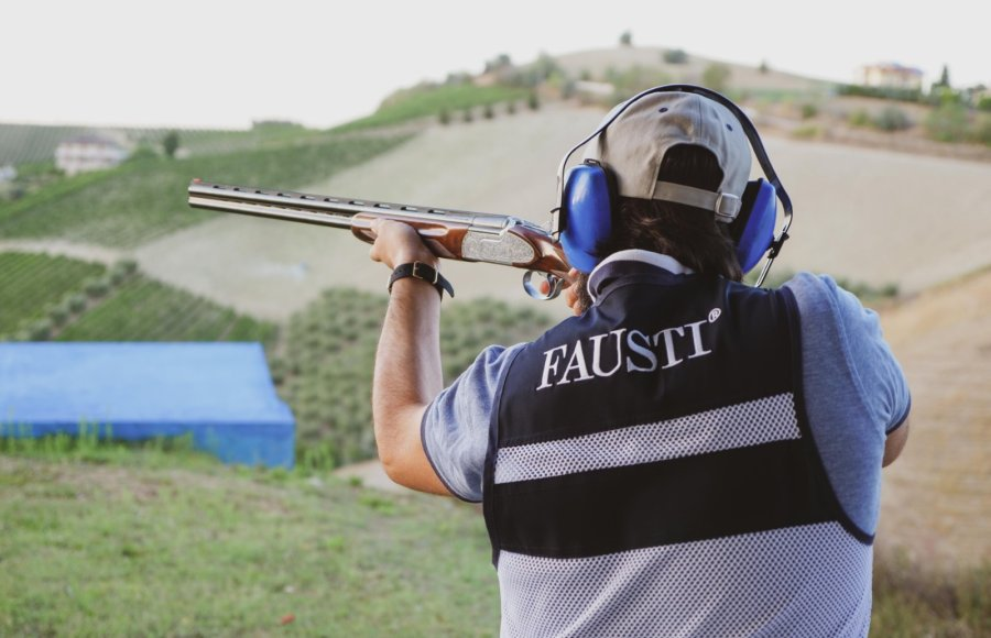 Testing the Fausti SLX Magnificent Sport Edition in 28 gauge at the shooting range.
