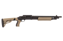 O.F. Mossberg & Sons introduces the Model 500 ATI Scorpion pump-action shotgun at the 2016 SHOT Show