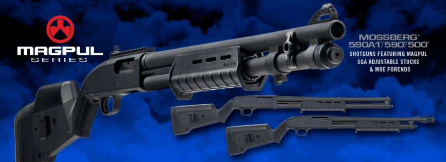 Mossberg MagPul-series pump-action shotguns
