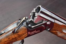 A detailed view of the Perazzi High Tech over/under