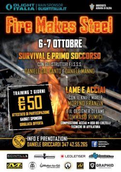 Locandina evento Fire makes steel 2018