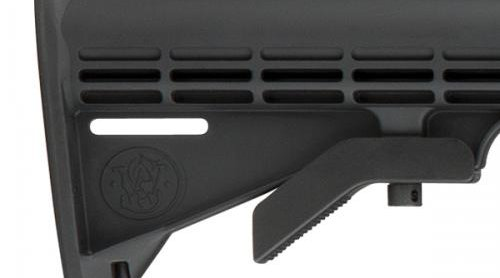 6-position telescopic type stock of the Smith & Wesson M&P10 sport rifle in .308 Win